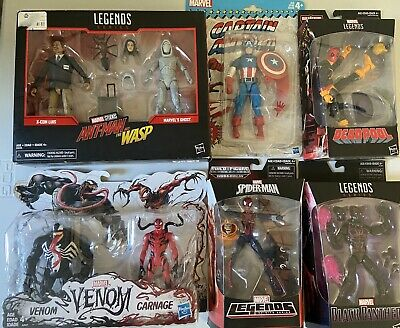 Marvel Legends 8 Figure lot New: Captain America, Deadpool, Panther, Spider-Girl