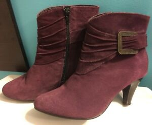 Size 8 Purple Suede Boots
