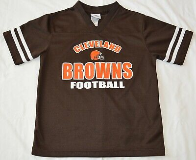 NFL Team Apparel Cleveland Browns Jersey Youth Large 12-14 Shirt Short Sleeve  Cleveland Browns Youth Short
