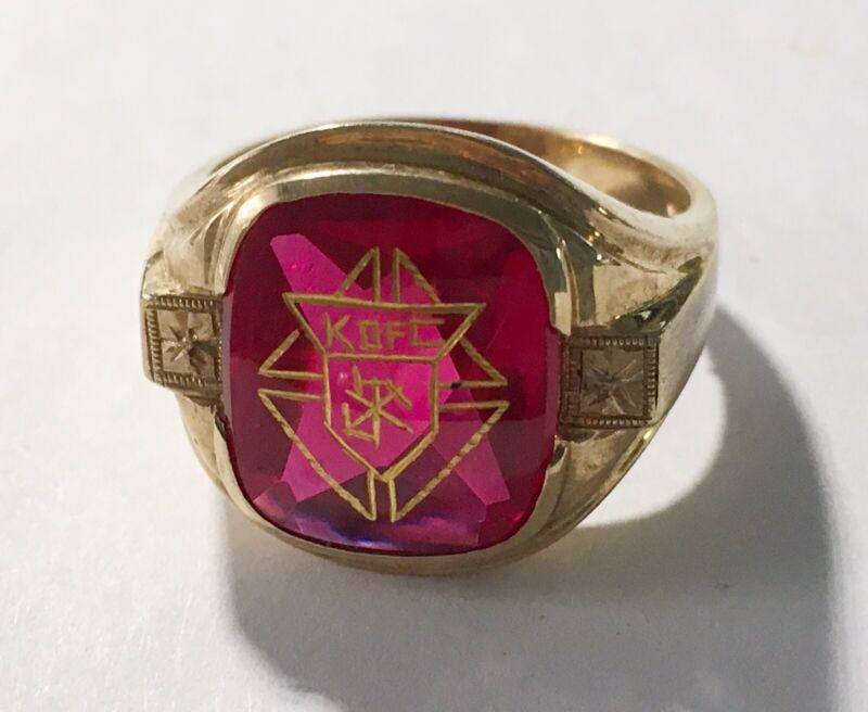 Vintage Estate 10k Knights Of Columbus Ring