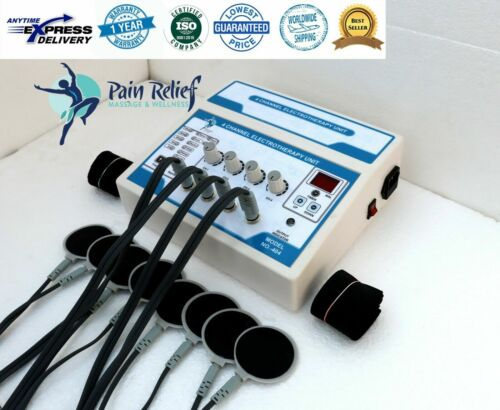 Professional Electrotherapy 4 Channel Physical Pain Relief Massager Therapy Unit