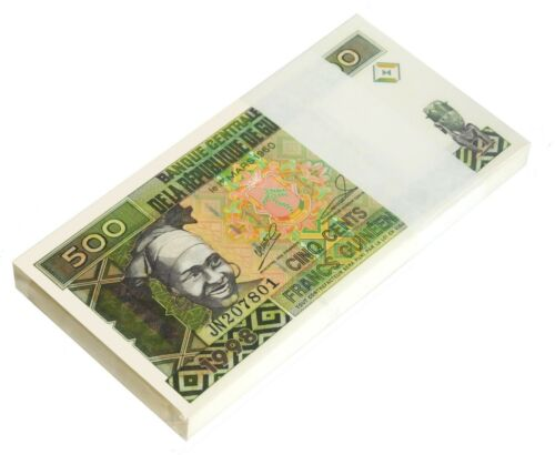 GUINEA 500 FRANCS 1998 P 36 UNC BUNDLE OF (20 NOTES) 20 PCS