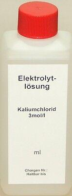 KCL 3mol/l  100 ml, Elektrolytlösung Pufferlösung Eichlösung Kalibrierlösung