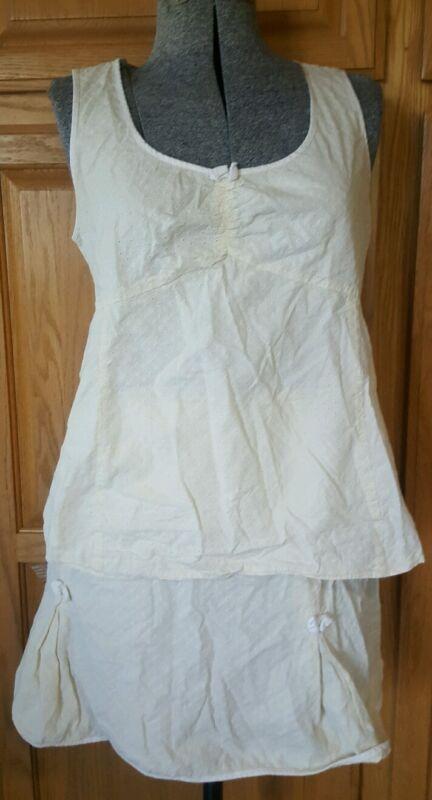 Motherhood maternity 2pc skirt top outfit xl yellow x large