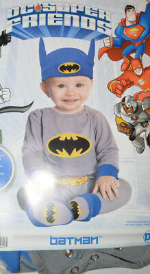 Baby Boy Halloween DC Batman 6 Pc Costume Outfit Size 0-6 Months