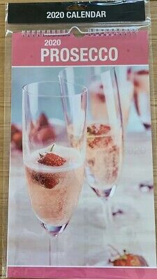 """""""PROSECCO"""" 2020 MONTH TO VIEW CALENDAR WITH POSTAL ENVELOPE"""