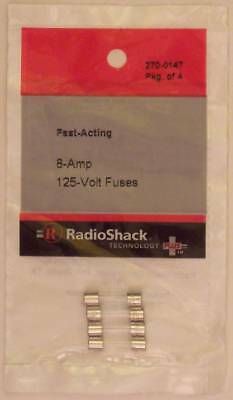 Fast-acting 8-amp 125-volt Gma Glass Fuses 5 X 20mm 8a 125v 4pk
