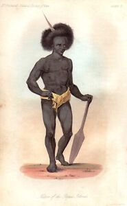 1842-ANTIQUE-PRINT-NATIVE-OF-THE-PAPUA-ISLANDS