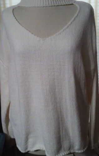 No Comment NY LA Women's Sweater XL Ivory Clothing Accessories New Polyester