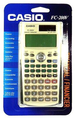 FC-200V CASIO Financial Calculator, 4-Line Display,Cost/sell/margin statistic