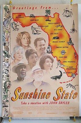 SUNSHINE STATE Original 2002 DS Theater Poster 27x40 John Sayles Edie Falco