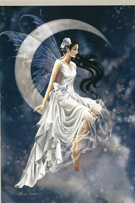 - Nene Thomas FROST MOON Limited Edition Signed Print Fairy LE Crescent Clear Wing