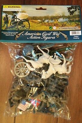 AMERICAN CIVIL WAR ACTION FIGURES - Sealed Toy Soldiers Gettysburg Set