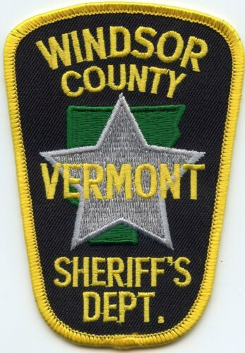 WINDSOR COUNTY VERMONT VT SHERIFF POLICE PATCH