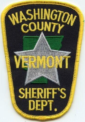 WASHINGTON COUNTY VERMONT VT SHERIFF POLICE PATCH