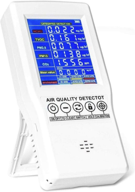 Yvelines HTO-131 Indoor Air Quality Monitor Accurate Tester CO2 Formaldehyde