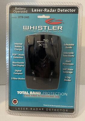 Whistler XTR-540 XTR540 Detector inalámbrico de radar láser con brújula NUEVO