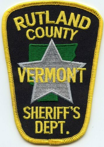 RUTLAND COUNTY VERMONT VT SHERIFF POLICE PATCH