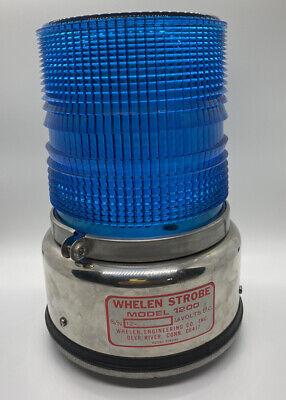 Rare Whelen Strobe Emergency Light Beacon Blue Model 1200 Shell Only See Desc