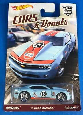 Hot Wheels '13 COPO CAMARO with Gulf Logo from RLC Cars & Donuts Car Culture Set