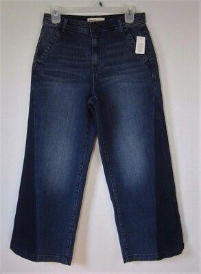 - Gap 1969 High Rise Wide Leg Crop Trouser Jeans Womens Size 27 4 Two Tone Dye Nwt
