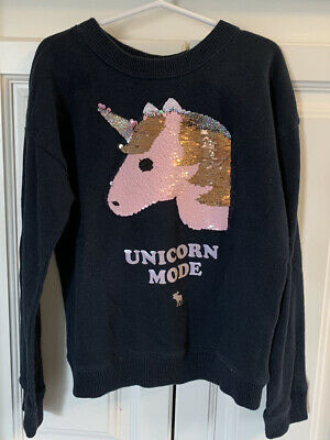 abercrombie kids girls  Sequin Flip Sweatshirt 7/8