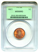 Lincoln Cent PCGS MS66