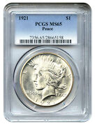 1921 Peace Dollar MS65