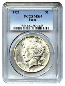 1921-Peace-1-PCGS-MS65-Key-Date-Peace-Silver-Dollar