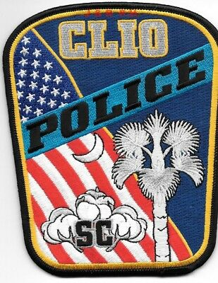 "Clio, SC (4"" x 5"" size) shoulder police patch (fire)"
