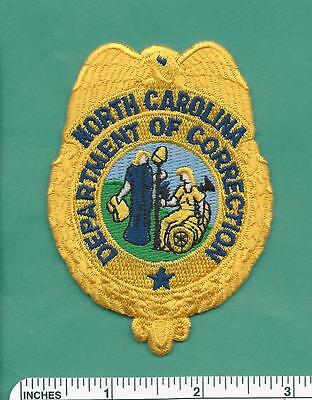 North Carolina NC State Department of Correction DOC Police Shoulder Patch