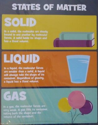 Lot (2) Science Chemistry State of Matter/Scientific Method Classroom Posters   (Scientific Method Poster)
