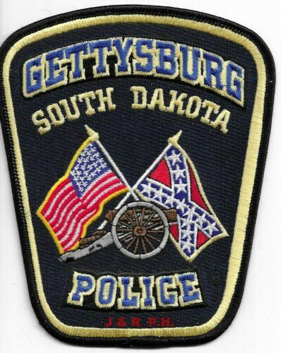 "Gettysburg, South Dakota  (4.5"" x 5.5"" size) shoulder police patch (fire)"