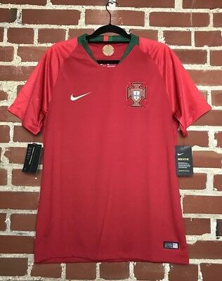 ad99afcf005 Nike Men s 2018 Portugal WC Home Stadium Jersey 893877-687 Size L  90