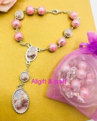 12 Baptism Party Favors Bracelet Recuerdos De Communion Mi Bautizo FREE BAGS](Communion Party Bags)