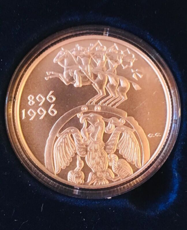 1996 Hungary Silver Proof Horse Phoenix Coin Forint 1100th Hungarian Anniversary
