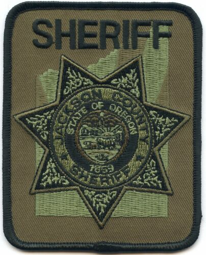 JACKSON COUNTY OREGON OR subdued SHERIFF POLICE PATCH