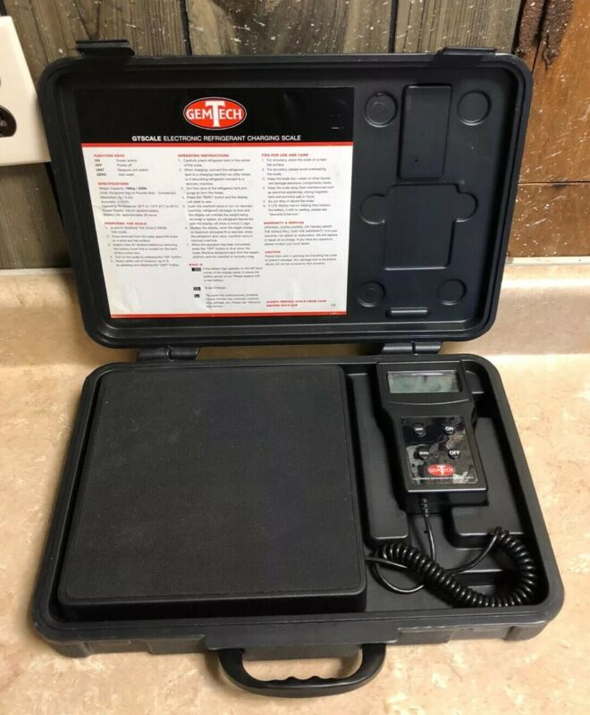 GEMTECH REFRIGERANT CHARGING SCALE *USED*