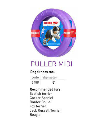 """PULLER MIDI Active DOG TOY Set of TWO Purple RINGS for Training 8"""""""