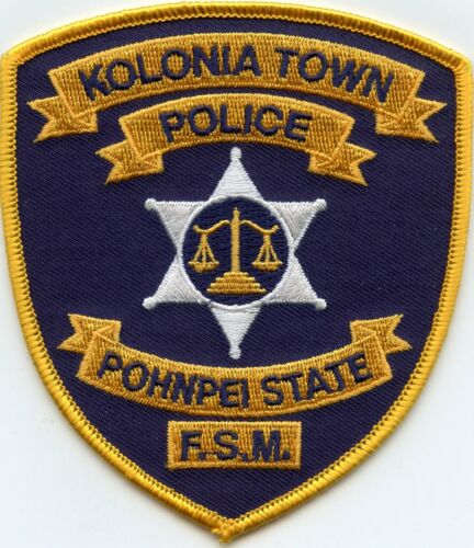 KOLONIA TOWN POHNPEI STATE FSM FEDERAL STATE OF MICRONESIA POLICE PATCH