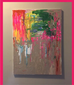 Vibrant Abstract Art piece 18x24