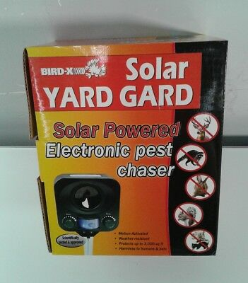 Bird-X Solar Yard Gard Ultrasonic Animal Repeller, repel unwanted raccoons, dee