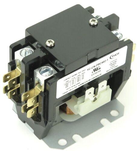 YC-CN-PBC402-1 DEFINITE PURPOSE CONTACTOR 40A 2P 24V COIL 40 FITS DP40C2P-F