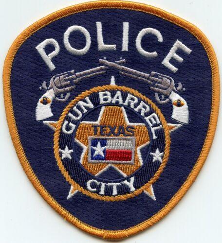 GUN BARREL CITY TEXAS TX POLICE PATCH