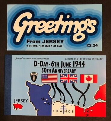 Jersey 50th Anniv. of D-day & Greetings Booklets MNH