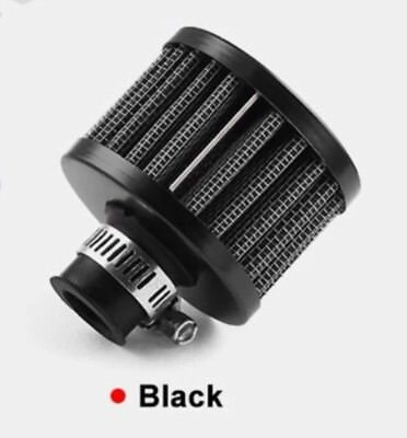 12MM Black Round Crank Case EngIne Breather Air Filter Car Motorcycle Quad Bike