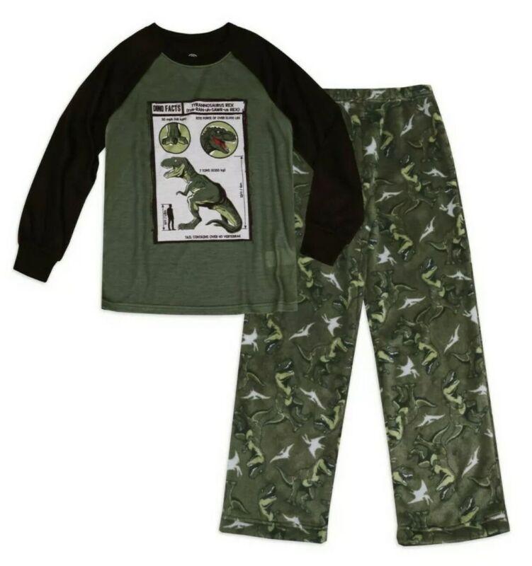 Wonder Nation Boys 2pc Pajama Set Dinosaur T-Rex Size M (8) NWT