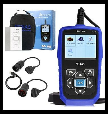 HEAVY DUTY TRUCK & CAR OBD2 DIAGNOSTIC HD CODE READER DIESEL SCANNER NEXAS NL102 for sale  Shipping to Canada