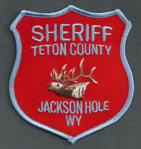 TETON COUNTY SHERIFF WYOMING SHOULDER PATCH