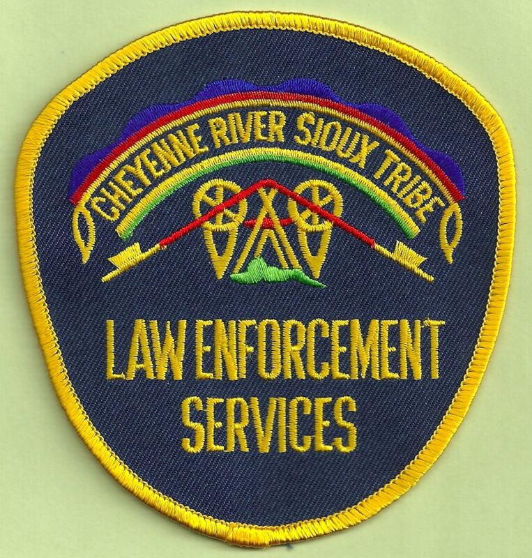 CHEYENNE RIVER SIOUX SOUTH DAKOTA TRIBAL LAW ENFORCEMENT SERVICES SHOULDER PATCH